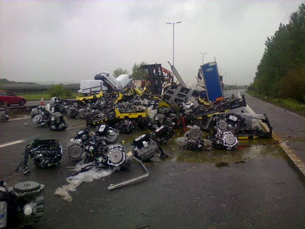 reading M4 crash