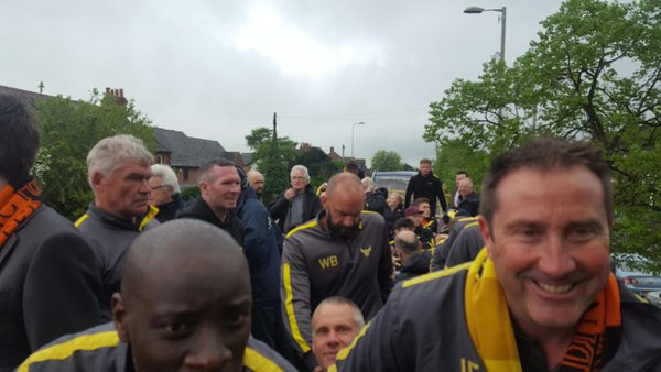 Oxford United Players Are On Open Top Bus