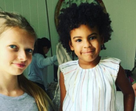 Blue Ivy and Apple Paltrow