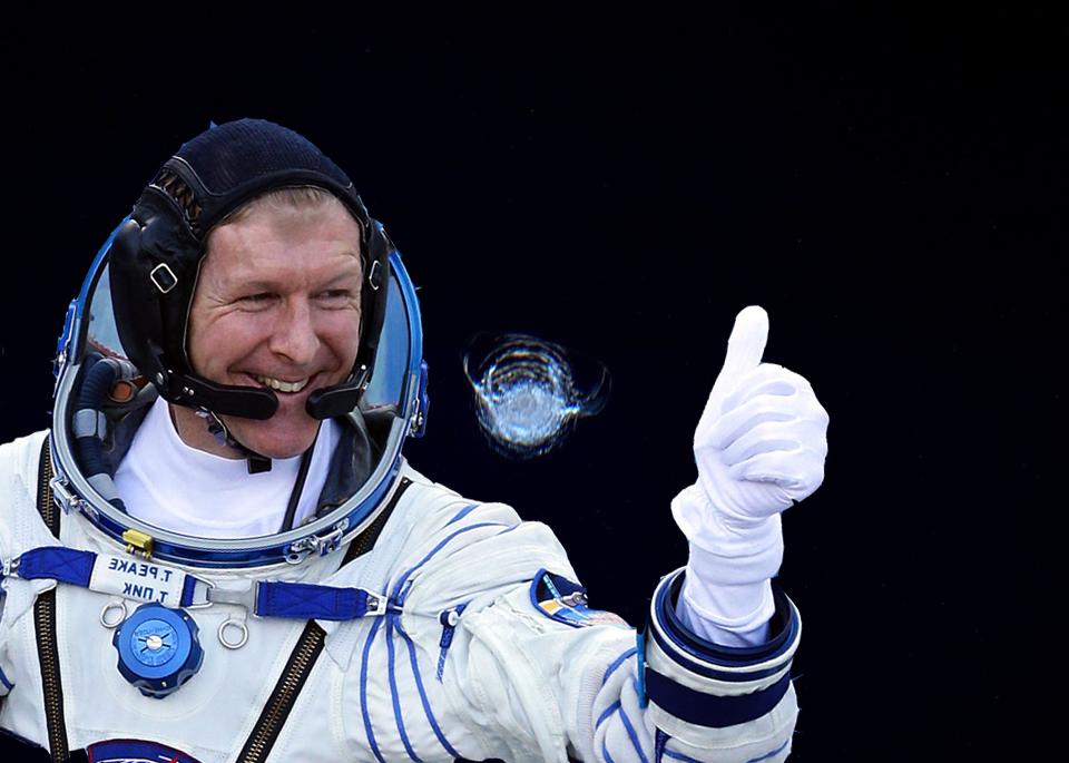 Tim Peake International Space Station crack