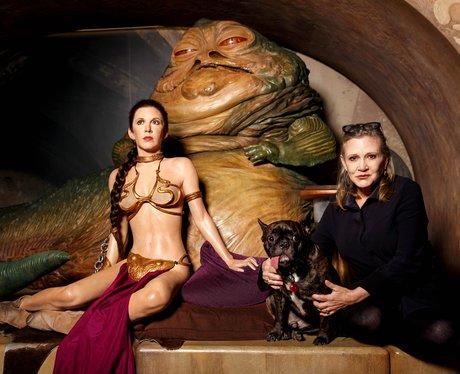 Carrie Fisher meets her waxwork
