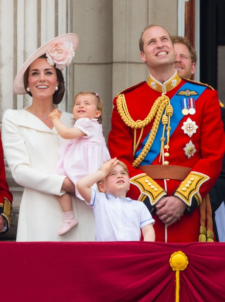 Princess Charlotte First appearance on the balcony