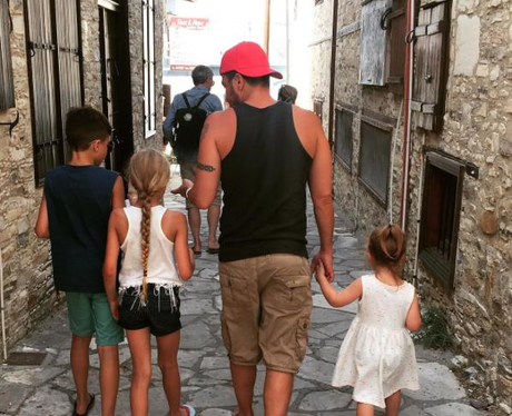 Peter Andre With Family In Cyprus