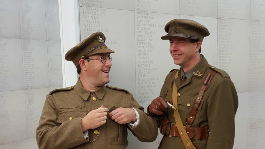 Actors reenacting the Battle of the Somme