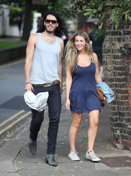 Russell Brand with Laura Gallacher