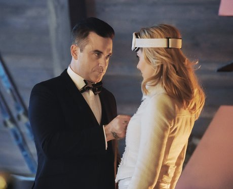 Robbie Williams and Cheryl Cole Cafe Royal advert