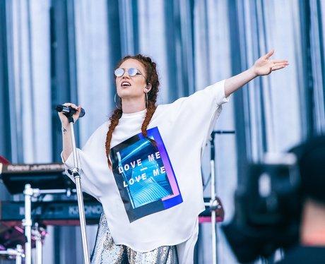 Jess Glynne on stage at Wireless Festival 2016