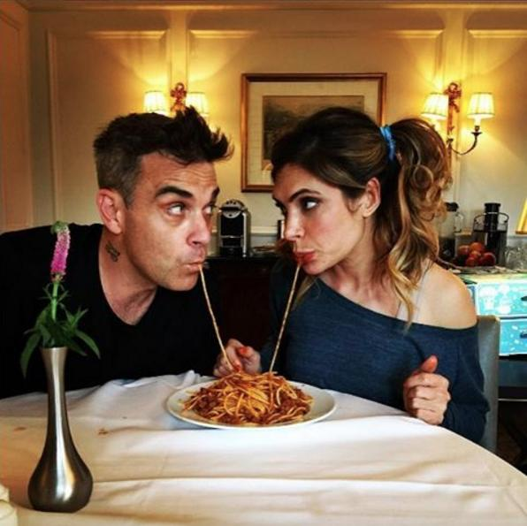 Robbie Williams & Ayda Field Share Disney's Lady A