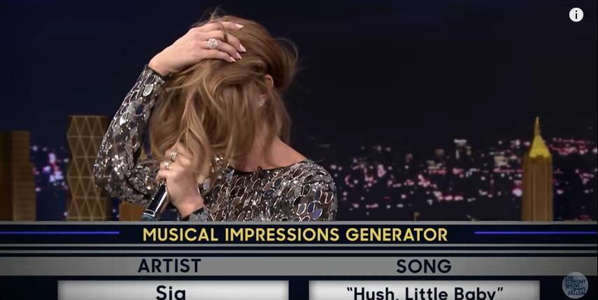 Celine Dion on Jimmy Fallon's Wheel Of Musical Imp