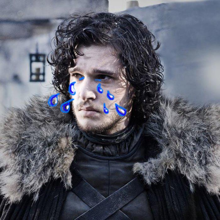 Jon Snow crying Game of Thrones season seven