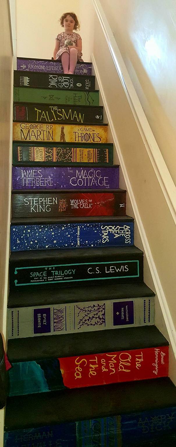Bookcase stairs Philippa Branham