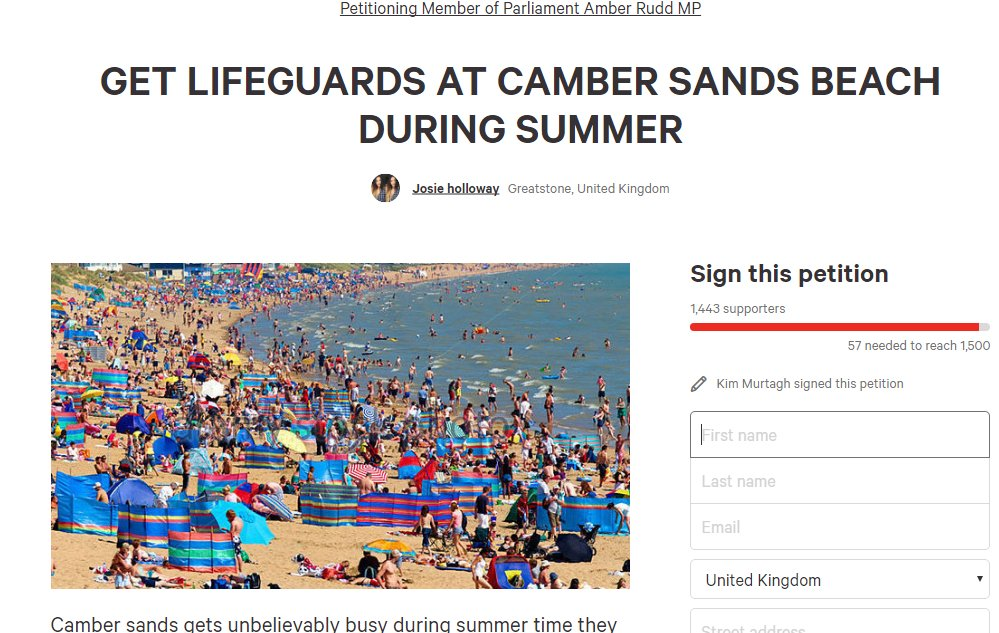 camber lifeguard petition new