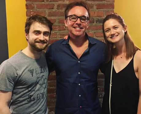 Daniel Radcliffe, Bonnie Wright and Chris Columbus