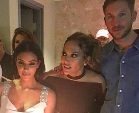 kim kardashian and calvin harris party, jennifer l