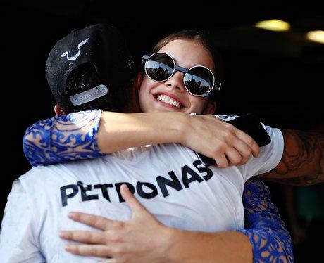 Lewis Hamilton, hugs, Barbara Palvin, Hungarian, G
