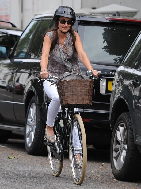 Pippa Middleton riding her bicycle