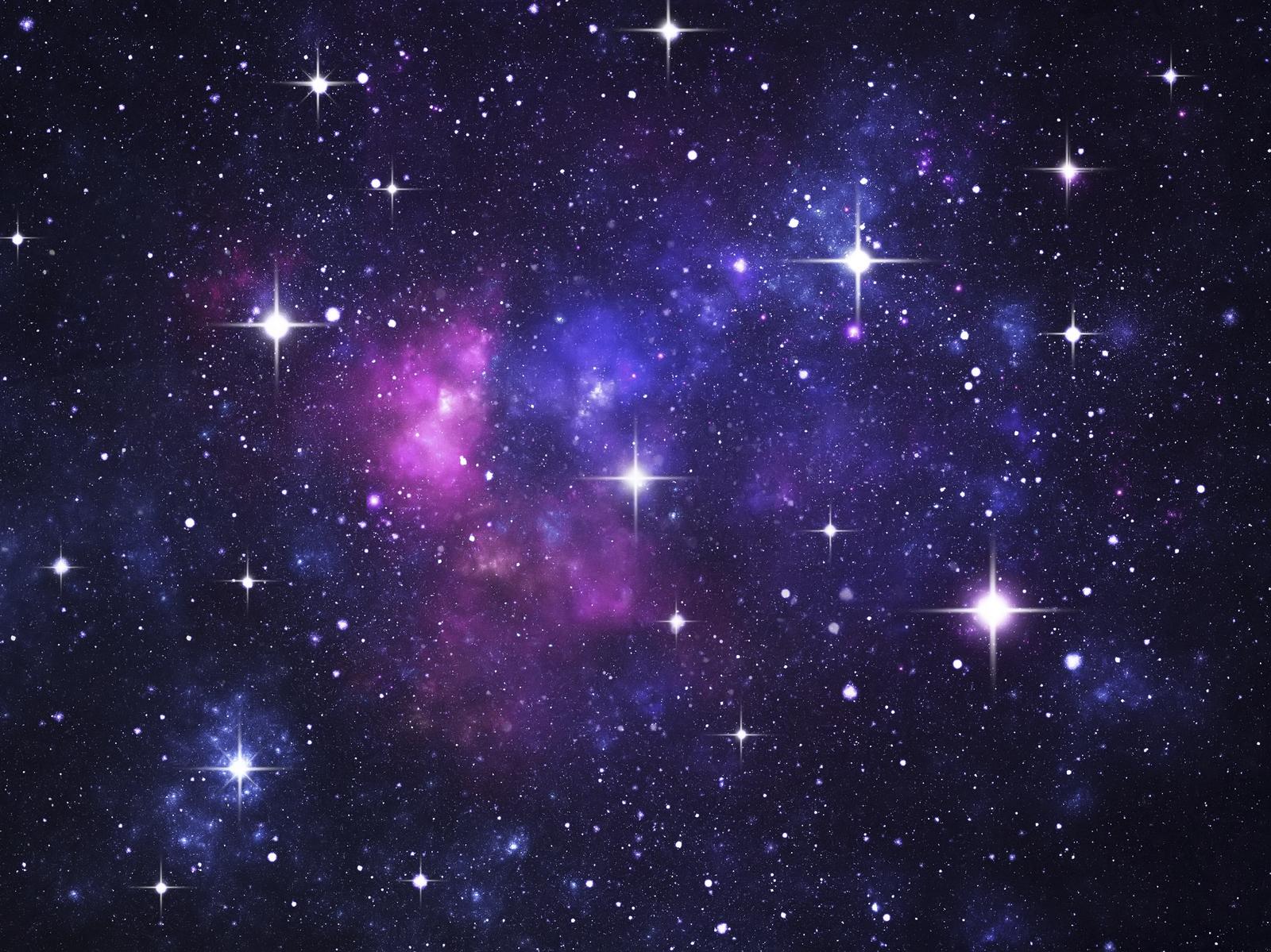 Starry purple galaxy