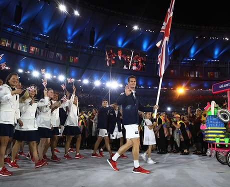 Andy Murray Leads Team GB At The Opening Ceremony
