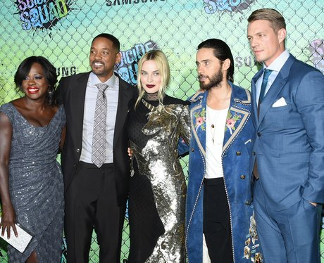 The cast of Suicide Squad at premiere