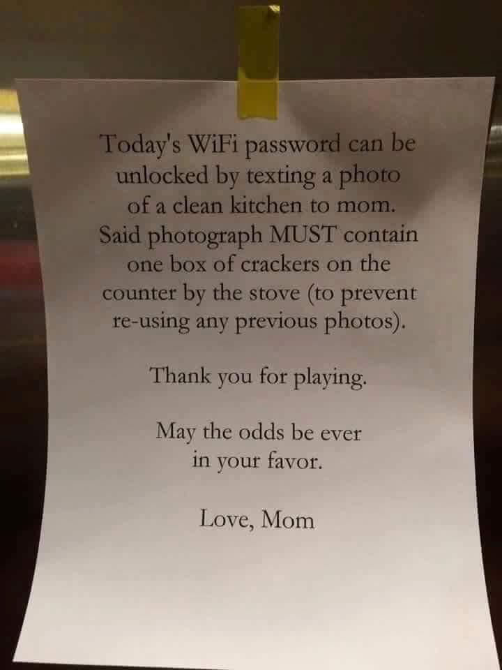 Clever mum wifi password