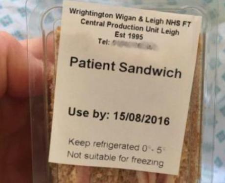 NHS Sandwich Hospital Lunch