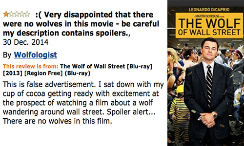 amazon product review wolf of wall street