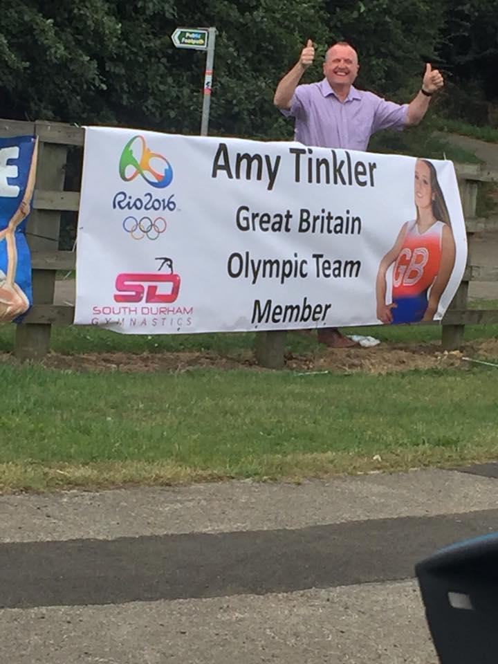 Bishop Auckland Rio gymnast Amy Tinkler Banner sto