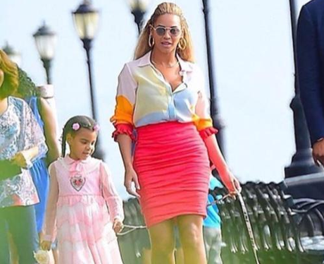 Beyonce and Blue Ivy Spend Mother-And-Daughter Tim