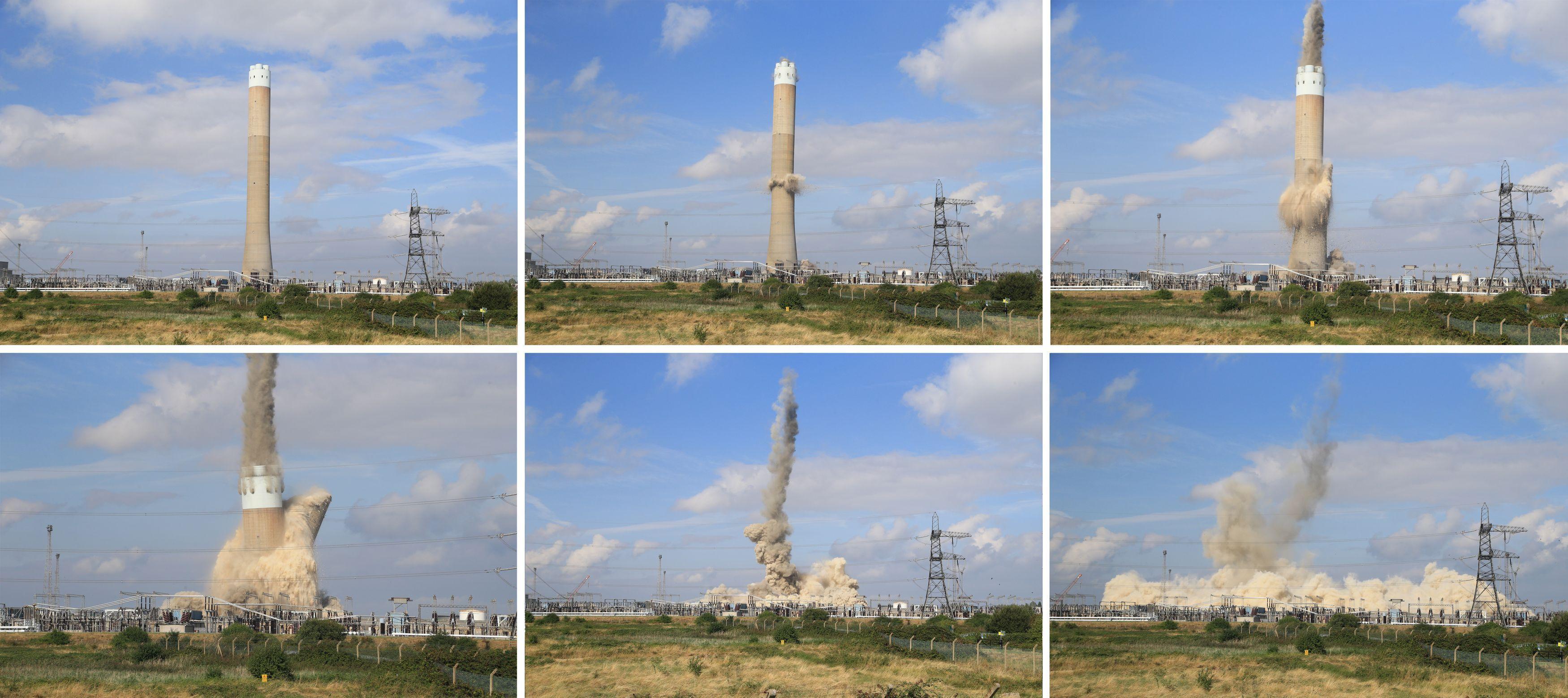 grain tower demolition