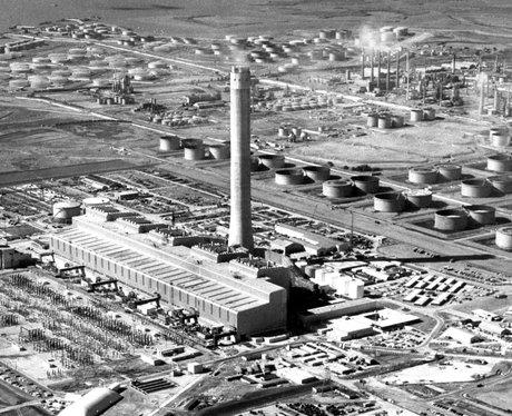 Grain Power Station Chimney Demolition