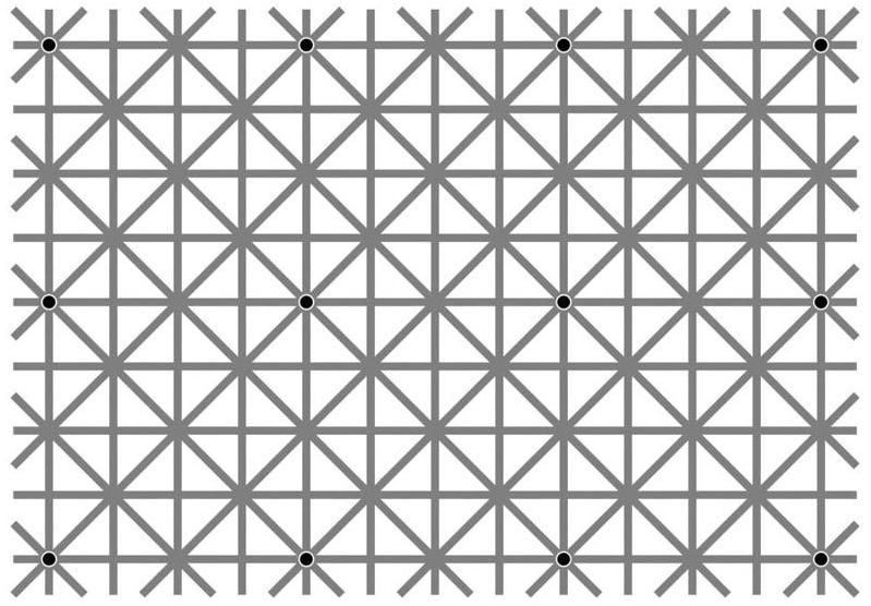 12 Dots Optical Illusion