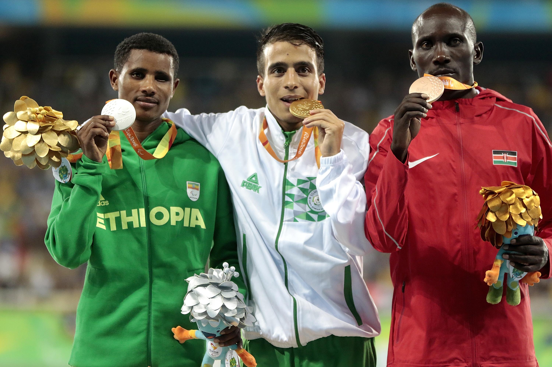 men's t13 1500m medallists