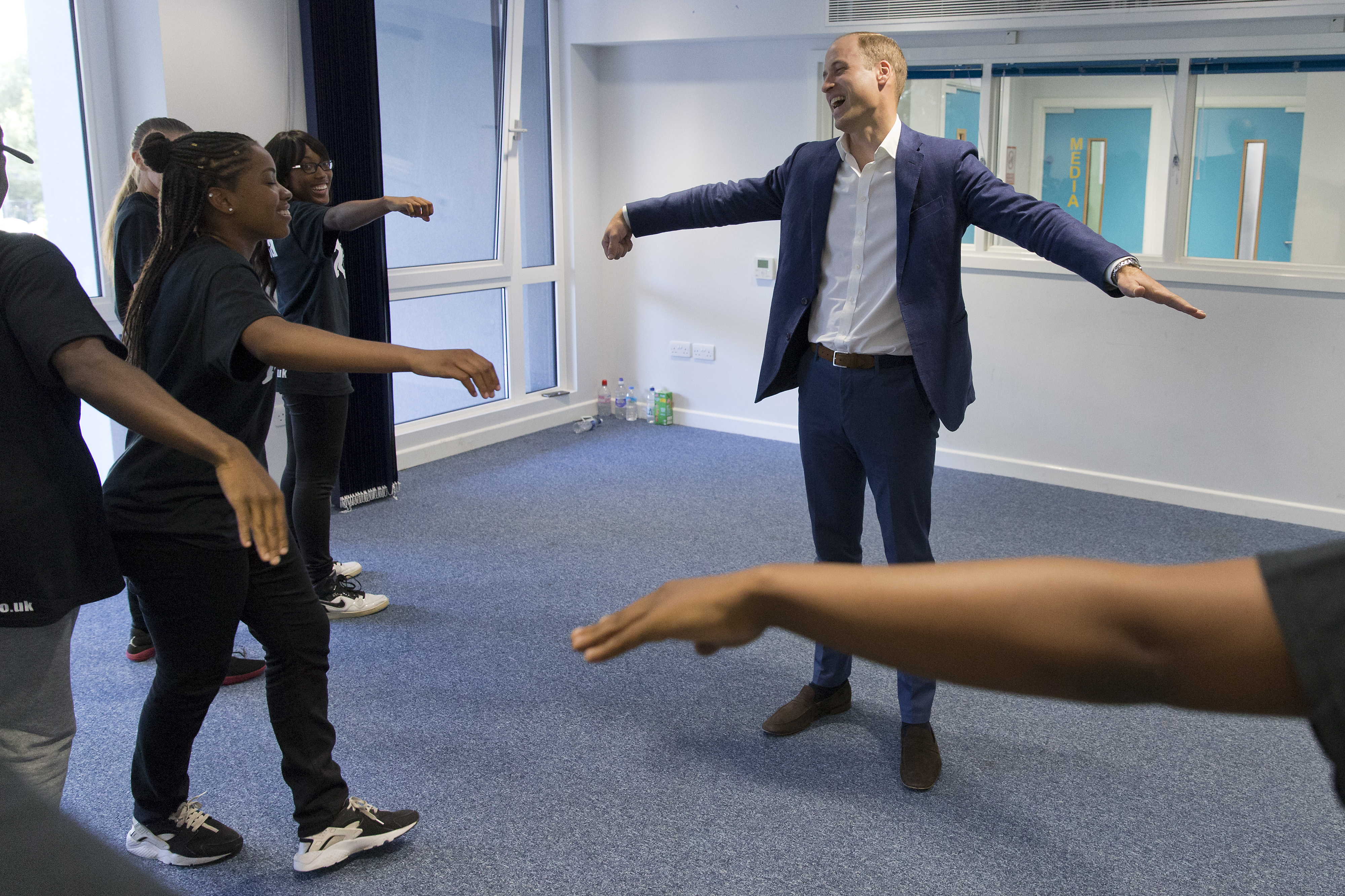 Prince William dancing on Royal visit