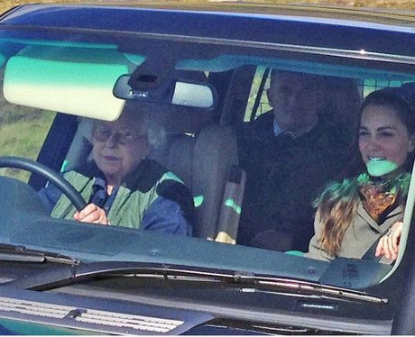 The Queen driving Kate Middleton
