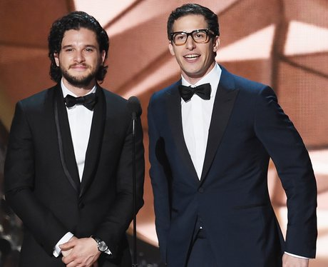 Kit Harrington, Andy Samberg, emmys, stage