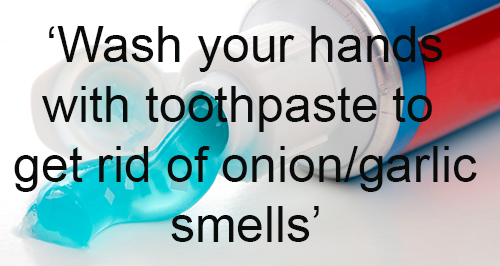 Quick Cleaning Hack 1 - Toothpaste