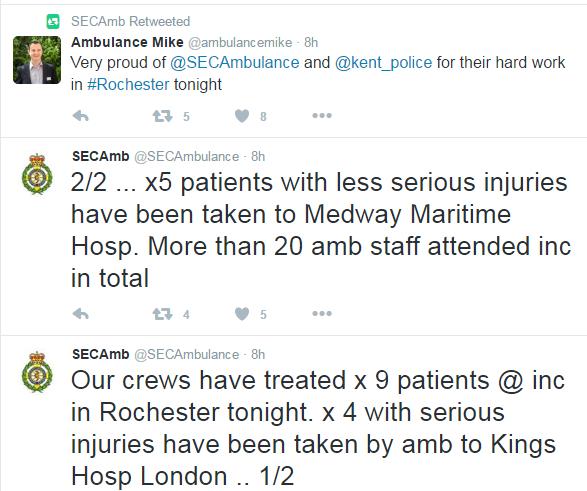 Nine injured