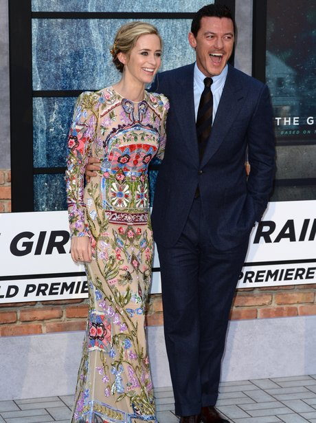 Emily Blunt and Luke Evans at a film premiere