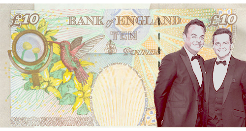 Ant and Dec Bank Note