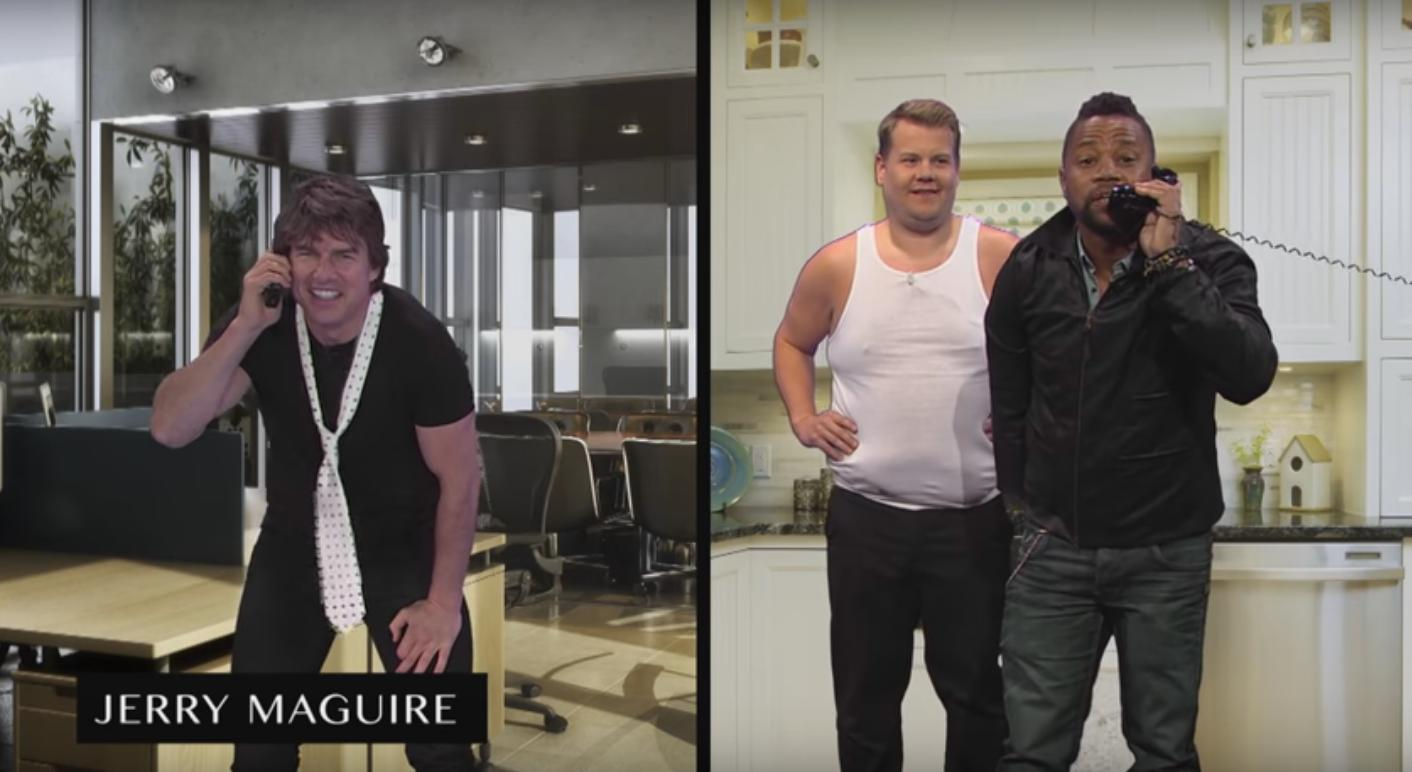 James Corden Helps Tom Cruise Act Out His Film Car