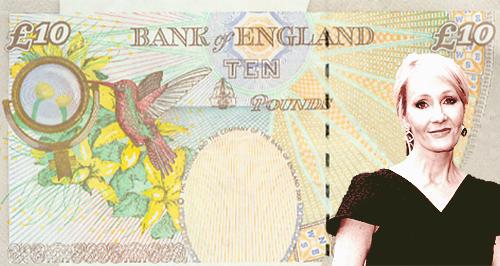 J.K Rowling Bank Note