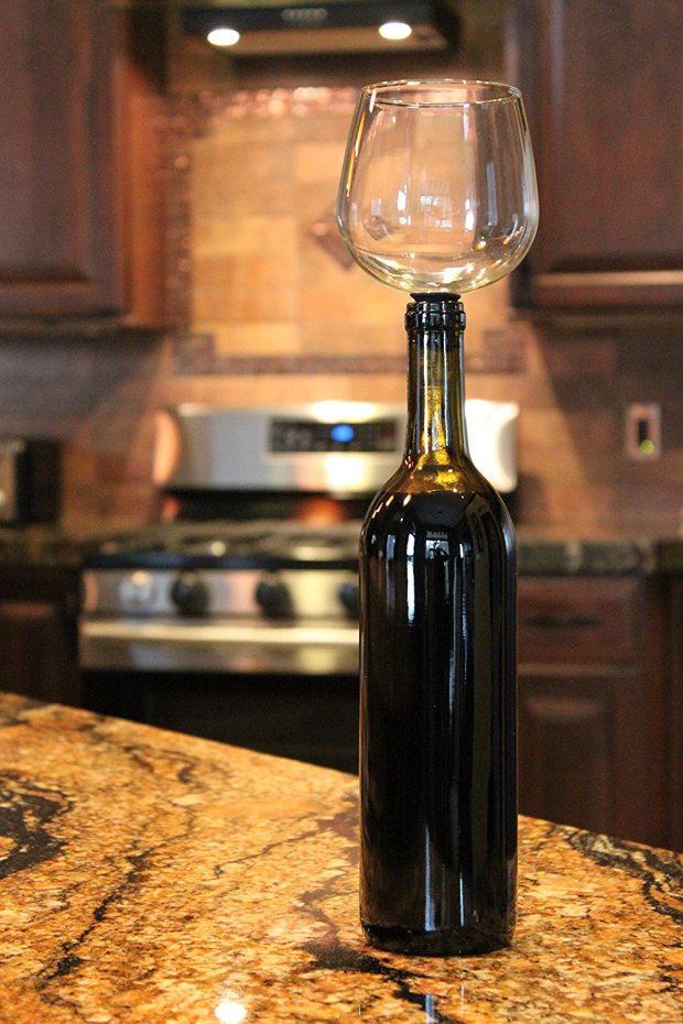 This Wine Glass Let's You Drink From The Bottle AN