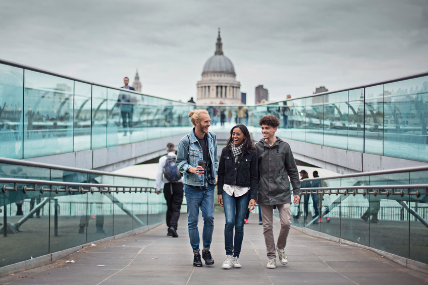 iStock winter festive Christmas day out London bea