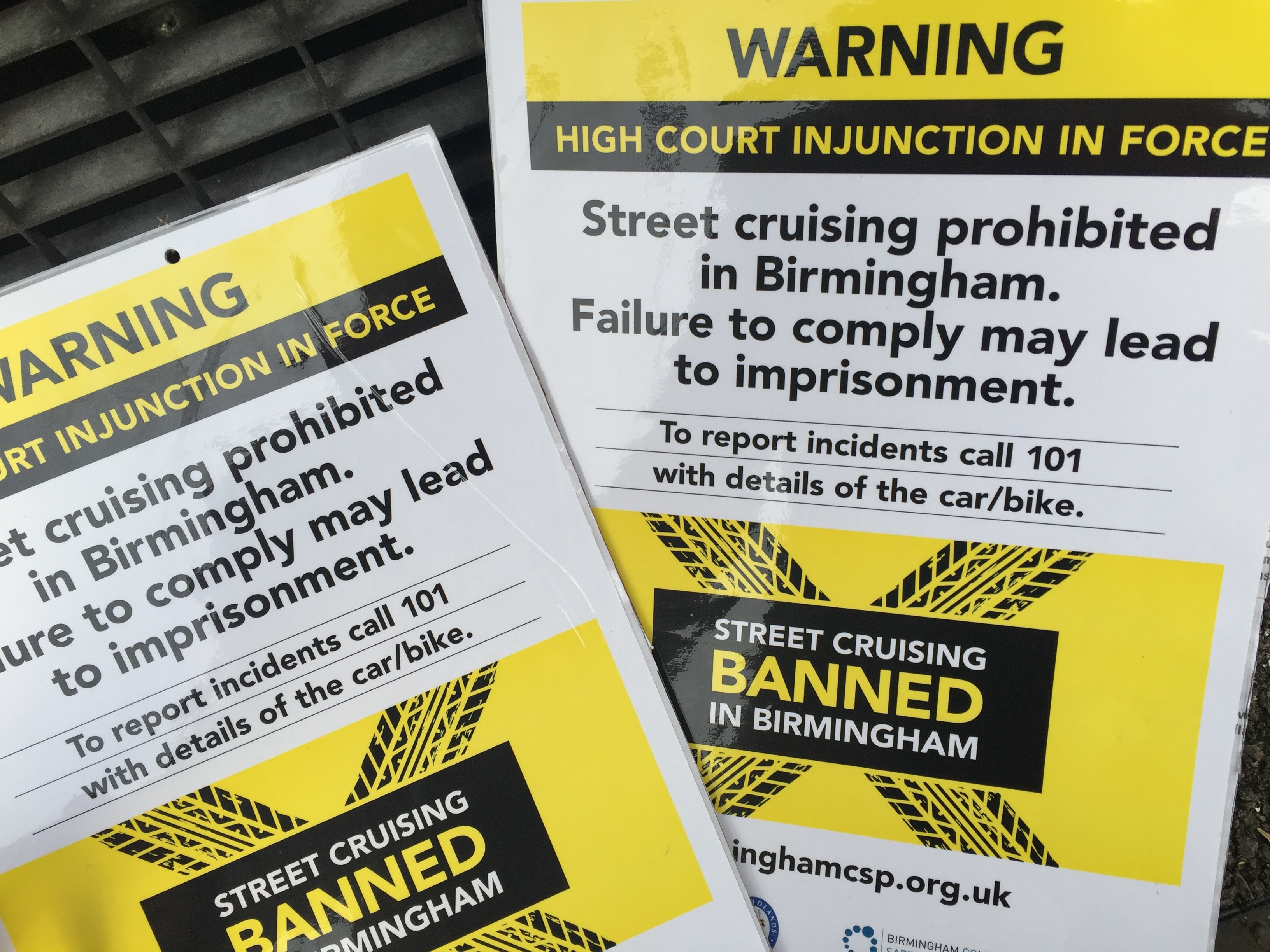 street racing ban poster