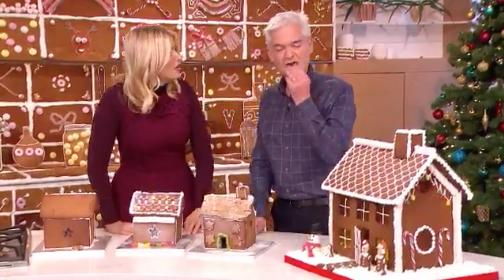 Holly And Phil Gingerbread House 2