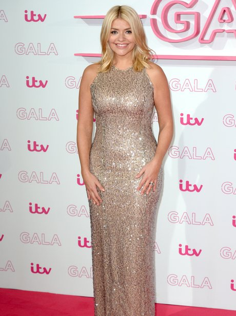 Holly Willoughby shimmers on the red carpet