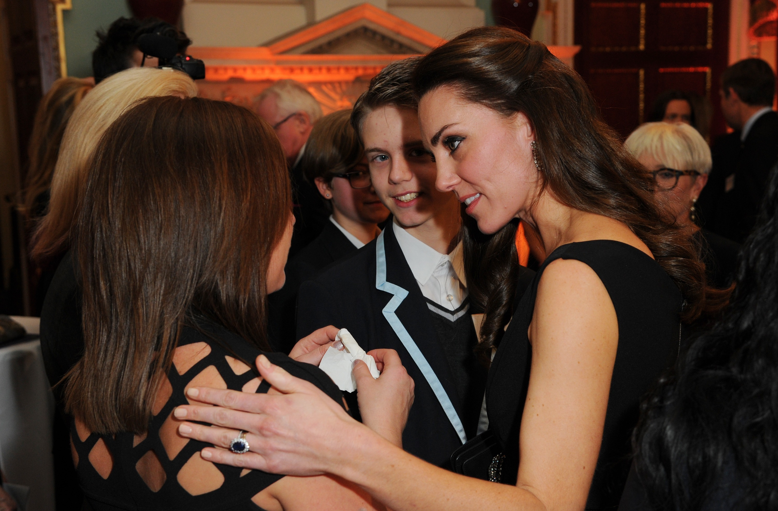 Kate Middleton Consoles Mother
