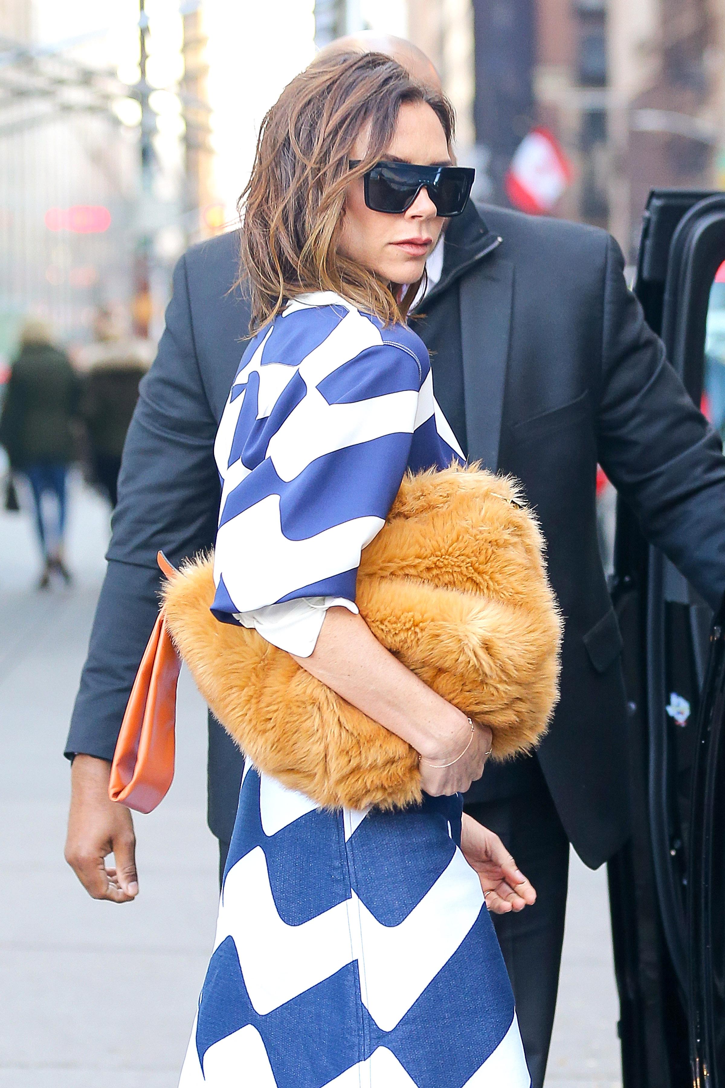 Victoria Beckham Furry Clutch