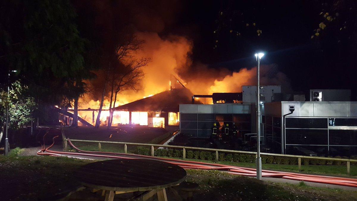 Fire at Fleet Services