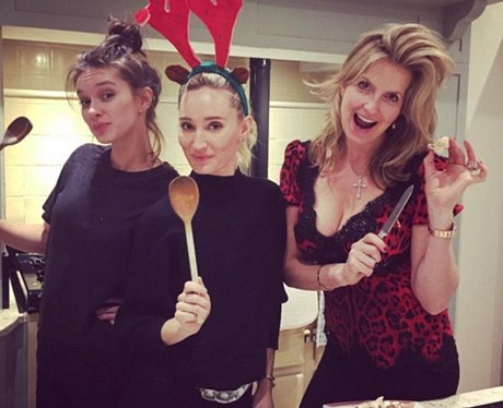 Penny Lancaster and daughters Christmas cooking